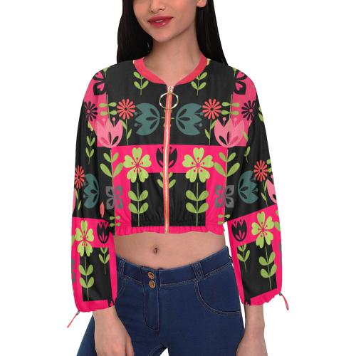 Flower Festival - I Cropped Chiffon Jacket for Women (Model H30)