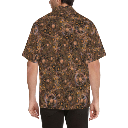 Steampunk Cogs up to 5XL Hawaiian Shirt (Model T58)