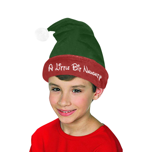 Christmas Little Bit Naughty (Red / Green) Santa Hat