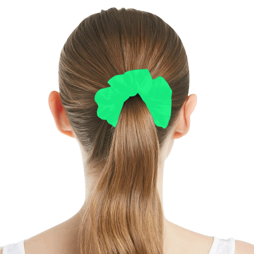 color spring green All Over Print Hair Scrunchie
