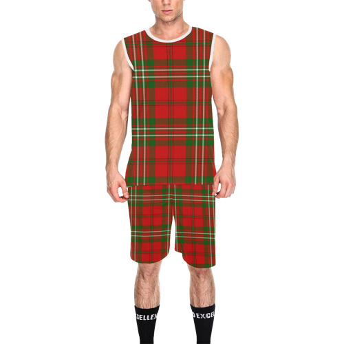 Scott tartan All Over Print Basketball Uniform