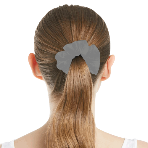 color grey All Over Print Hair Scrunchie