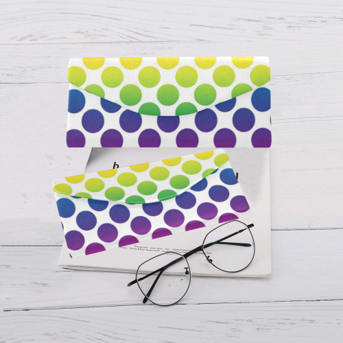 Rainbow Polka Dots Custom Foldable Glasses Case