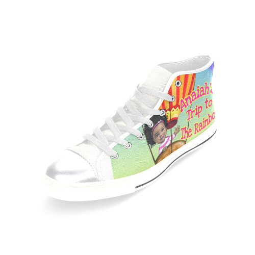 Adult Women Anaiah Ad Women's Classic High Top Canvas Shoes (Model 017)