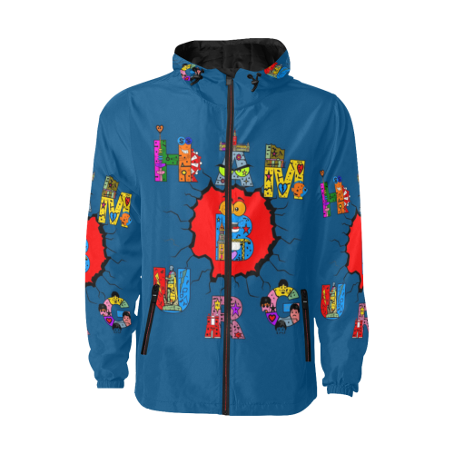 Hamburg Germany Pop Art by Nico Bielow All Over Print Quilted Windbreaker for Men (Model H35)