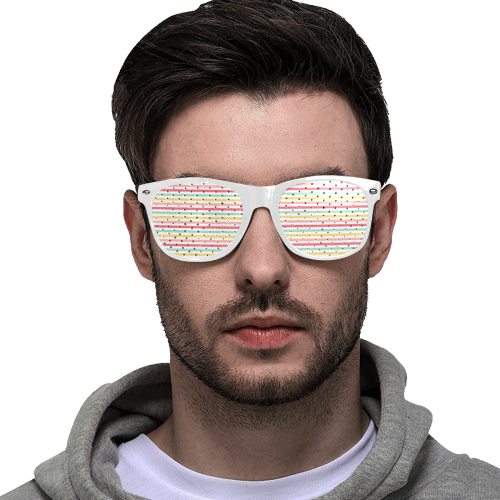 Pastel Stripes Custom Goggles (Perforated Lenses)