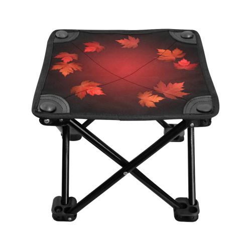 Canada Autumn Maple Leaf Folding Fishing Stool