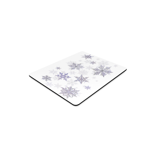 Snowflakes Blue Purple Rectangle Mousepad