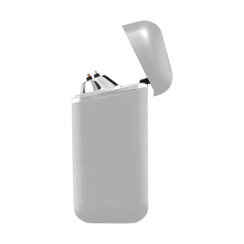color silver Curved Edge USB Lighter (Lateral Button)