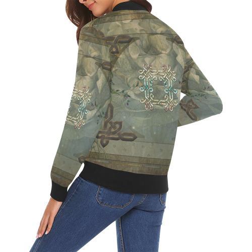 The celtic knot All Over Print Bomber Jacket for Women (Model H19)