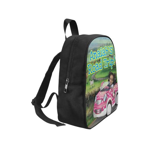 Anaiah's Road Trip Book Bag Fabric School Backpack (Model 1682) (Small)