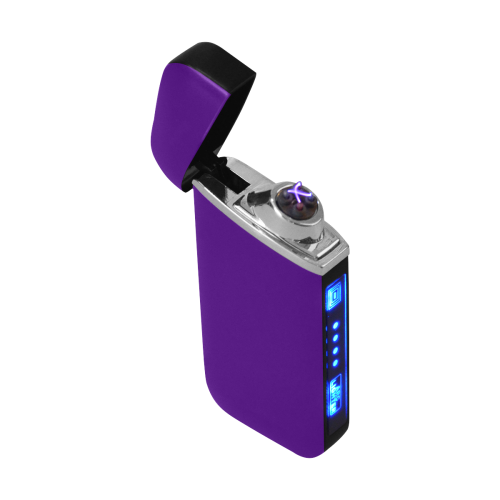 color indigo Curved Edge USB Lighter (Lateral Button)