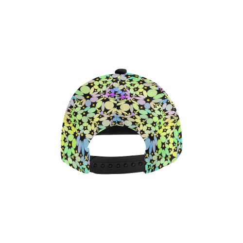 Power Flowers 318A by JamColors All Over Print Snapback Hat D
