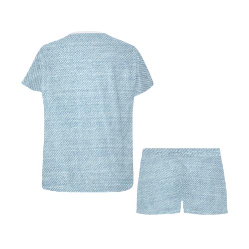 Stonewash Denim Women's Short Pajama Set (Sets 01)