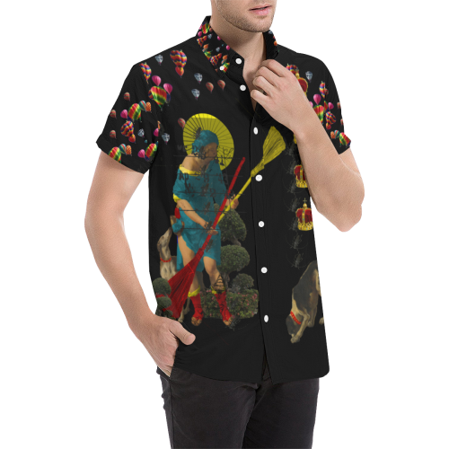PASSING OUT THE BROOMS IV Men's All Over Print Short Sleeve Shirt (Model T53)