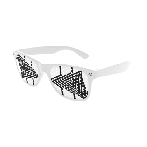 Black Geometric Art Stripes Triangles Custom Goggles (Perforated Lenses)