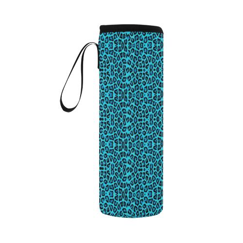 Blue Leopard 4k Neoprene Water Bottle Pouch/Large