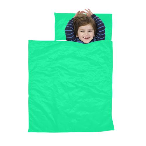 color medium spring green Kids' Sleeping Bag