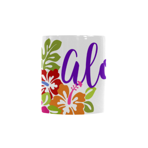 Tropical Aloha Hibiscus Bouquet Custom Morphing Mug (11oz)