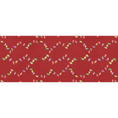 """Festive Christmas Lights  on Red Gift Wrapping Paper 58""""x 23"""" (1 Roll)"""
