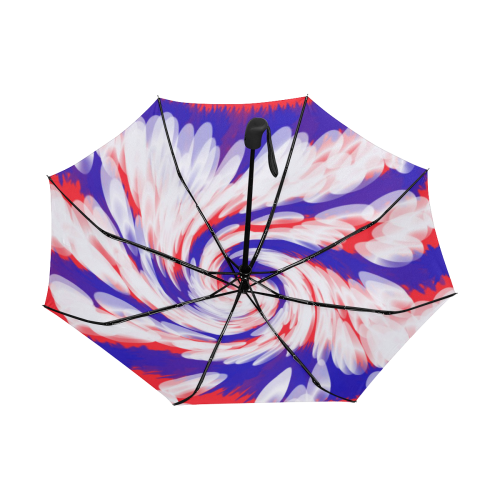 Red White Blue USA Patriotic Abstract Anti-UV Auto-Foldable Umbrella (Underside Printing) (U06)