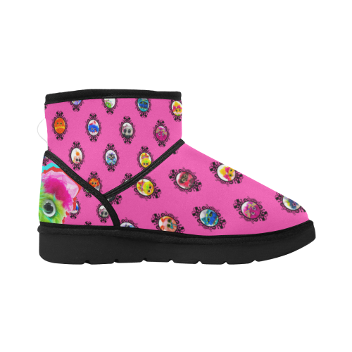 Pop Salty Boot Low Top Unisex Snow Boots (Model 049)