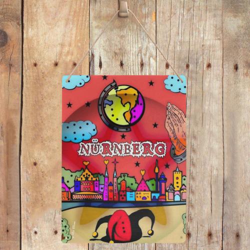 "Nürnberg by Nico Bielow Metal Tin Sign 12""x16"""