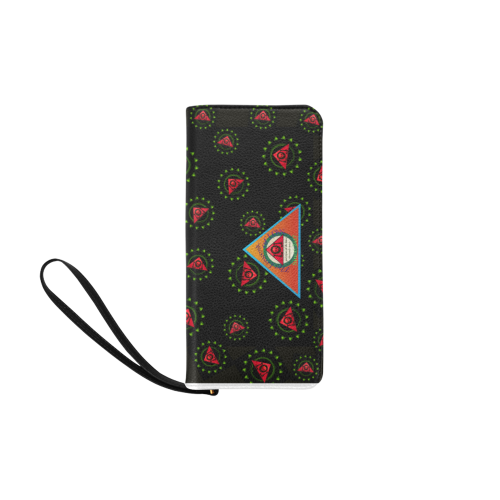 The Lowest of Low Triangle Skull Roses Since 2417 Women's Clutch Purse (Model 1637)