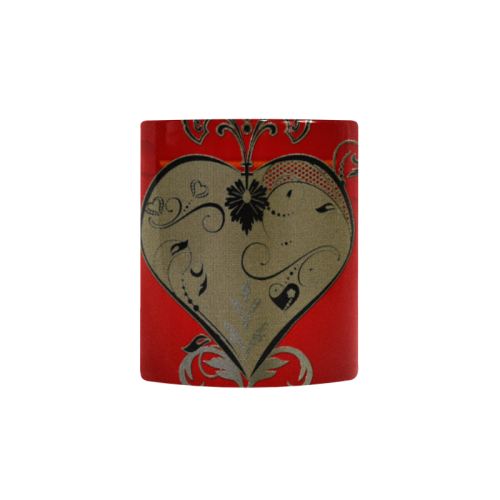 Wonderful decorative heart Custom Morphing Mug (11oz)