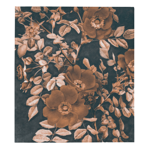 "flowers #flowers #pattern #flora Quilt 70""x80"""