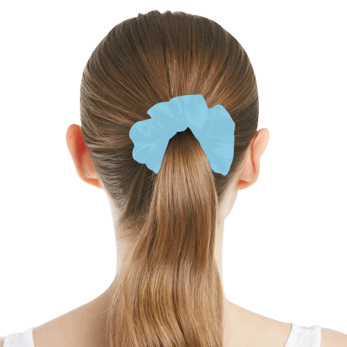 color baby blue All Over Print Hair Scrunchie
