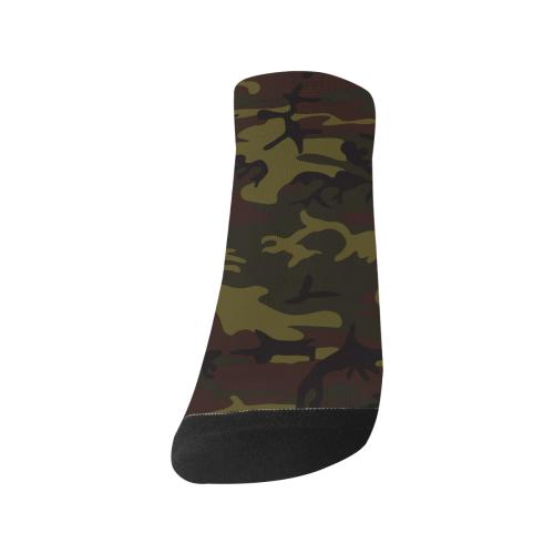Camo Green Brown Women's Ankle Socks