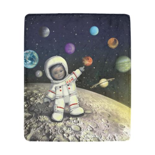 "Moon Solar Planets Blanket Ultra-Soft Micro Fleece Blanket 50""x60"""