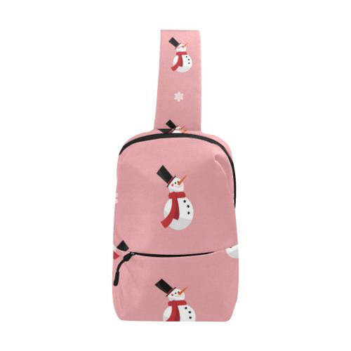 snowmen on pink Chest Bag (Model 1678)