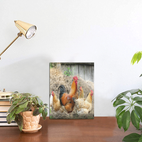"""Farmside Roosters Photo Panel for Tabletop Display 6""""x8"""""""
