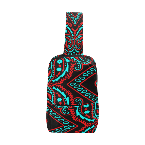blue and red bandana paisley Chest Bag (Model 1678)