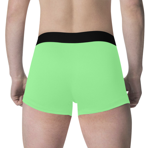 color pale green Men's All Over Print Boxer Briefs (Model L34)