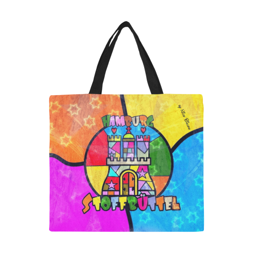 Hamburg Stoffbüttel by Nico Bielow All Over Print Canvas Tote Bag/Large (Model 1699)