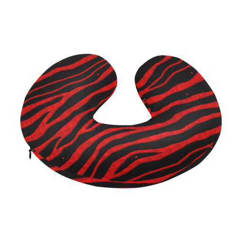 Ripped SpaceTime Stripes - Red U-Shape Travel Pillow
