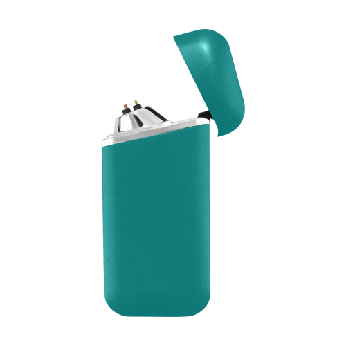 color teal Curved Edge USB Lighter (Lateral Button)