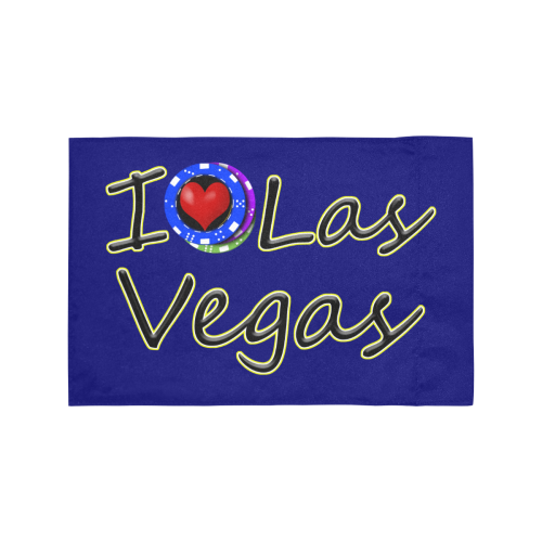 I Love Las Vegas / Blue Motorcycle Flag (Twin Sides)