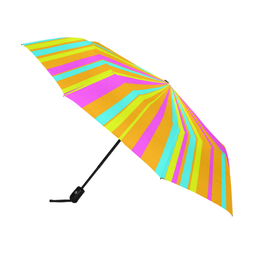 Colorful Neon ZOOM Stripes Anti-UV Auto-Foldable Umbrella (U09)