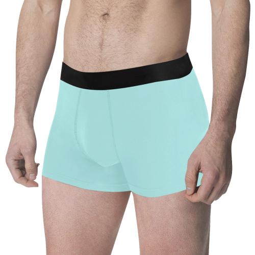 color pale turquoise Men's All Over Print Boxer Briefs (Model L34)