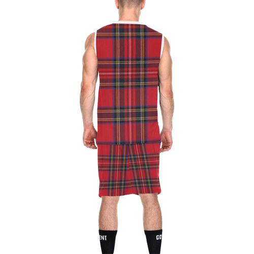 Royal Stewart tartan All Over Print Basketball Uniform