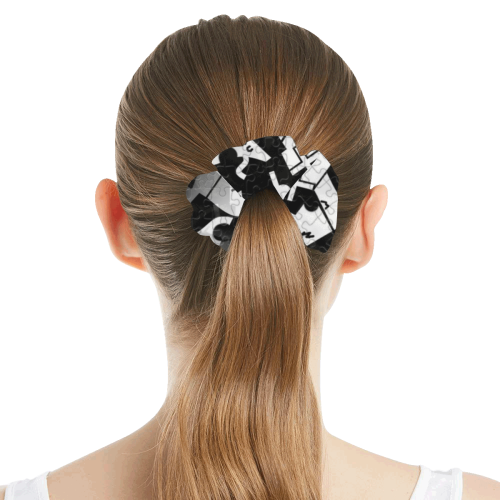 Balck and White by Nico Bielow All Over Print Hair Scrunchie
