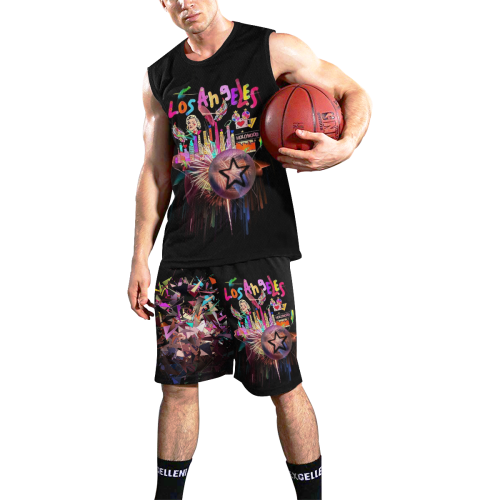 Los Angeles Popart by Nico Bielow All Over Print Basketball Uniform