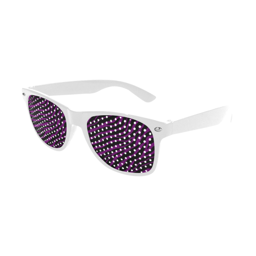 Ripped SpaceTime Stripes - Purple Custom Goggles (Perforated Lenses)