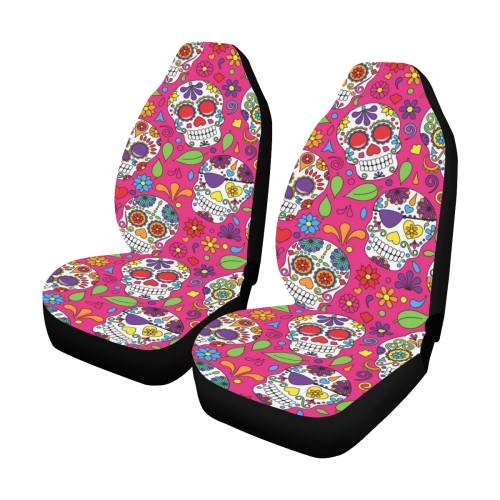 Groovy Day Of The Dead Sugar Skull Seamless Vector Backgr Car Seat Covers Set Of 2 Id D2993495 Machost Co Dining Chair Design Ideas Machostcouk