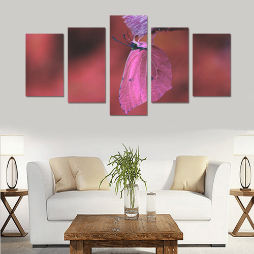 butterfly 02 Canvas Print Sets C (No Frame)