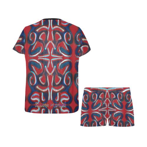 graffiti-real-4-tapiz-2 Women's Short Pajama Set (Sets 01)